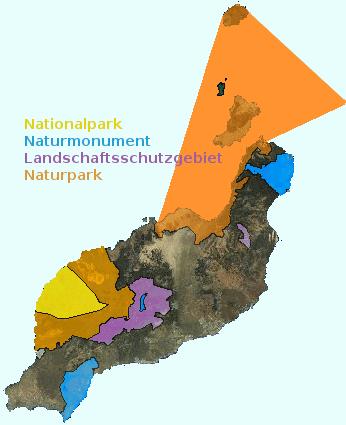 Lanzarote geschuetzte Gebiete